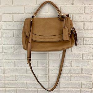 Sole Society rubie faux leather crossbody tan bag